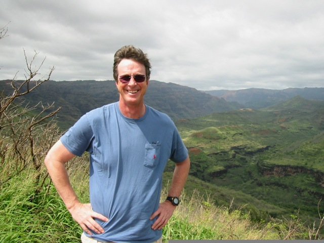 Michael Crichton doing research for MICRO in Hawaii