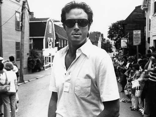 Michael Crichton on the set of Coma