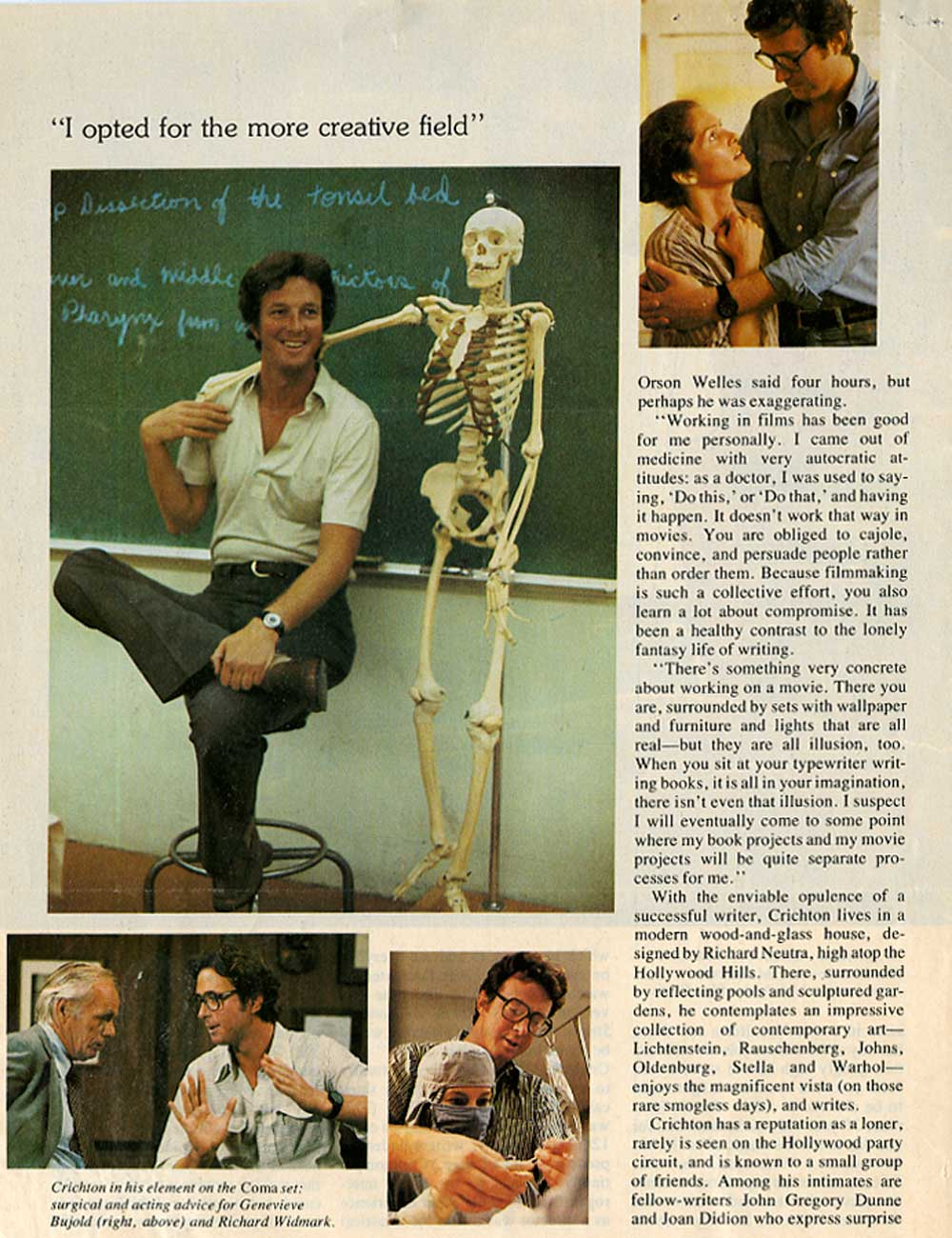 Michael Crichton in Signature Magazine - 1978