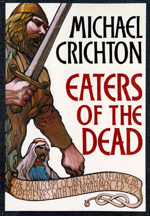 Early Cover Design for Eaters of the Dead