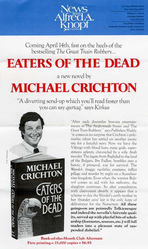 EATERS OF THE DEAD Book Promotion