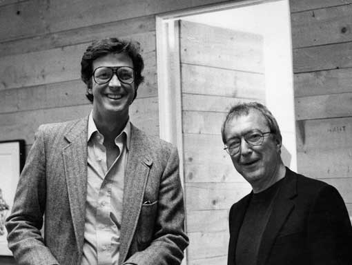 Michael Crichton and Jasper Johns
