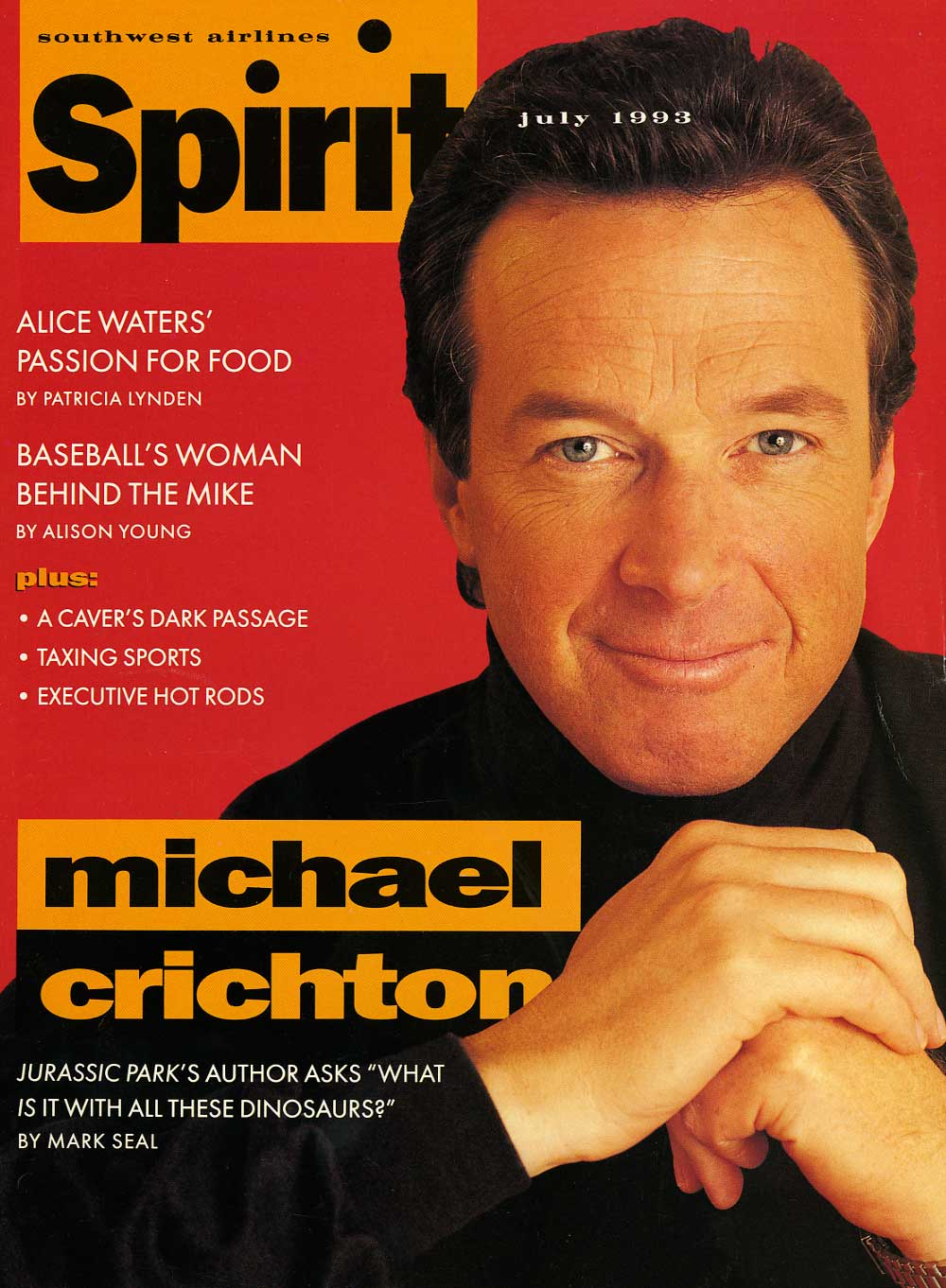 Michael Crichton in Southwest Airlines Spirit Magazine - 1973
