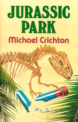 Jurassic Park Book Cover - United Kingdom