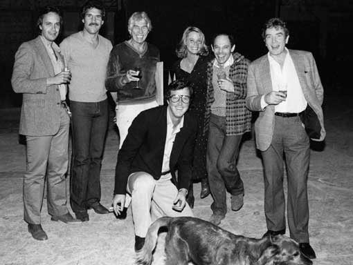 Michael Crichton and the cast of LOOKER