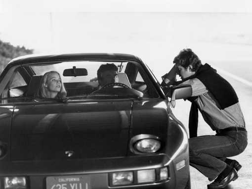MIchael Crichton, Albert Finney, Susan Dey on the set of LOOKER