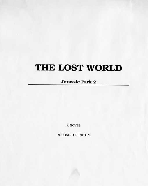 The Lost World - First Page of Manuscript
