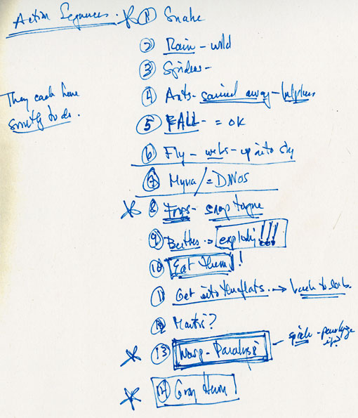 A page of Michael's handwritten MICRO notes