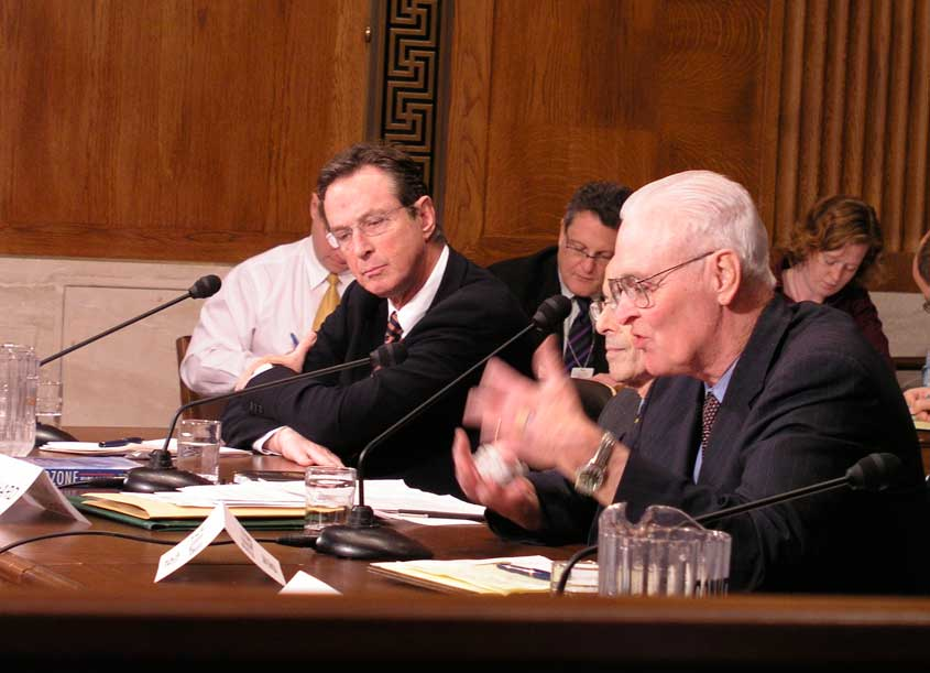 Michael Crichton testifying before Congress