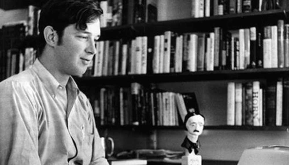 Michael Crichton with his Edgar Award