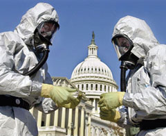 Hazmat suit in Anthrax Investigation