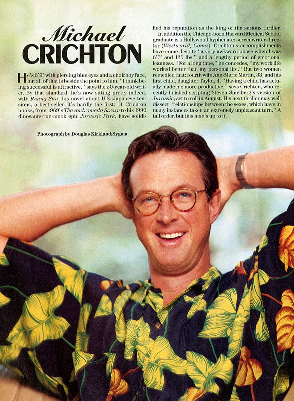 Michael Crichton in People Magazine