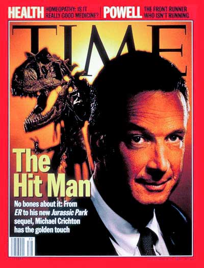 Michael Crichton on the cover of Time Magazine