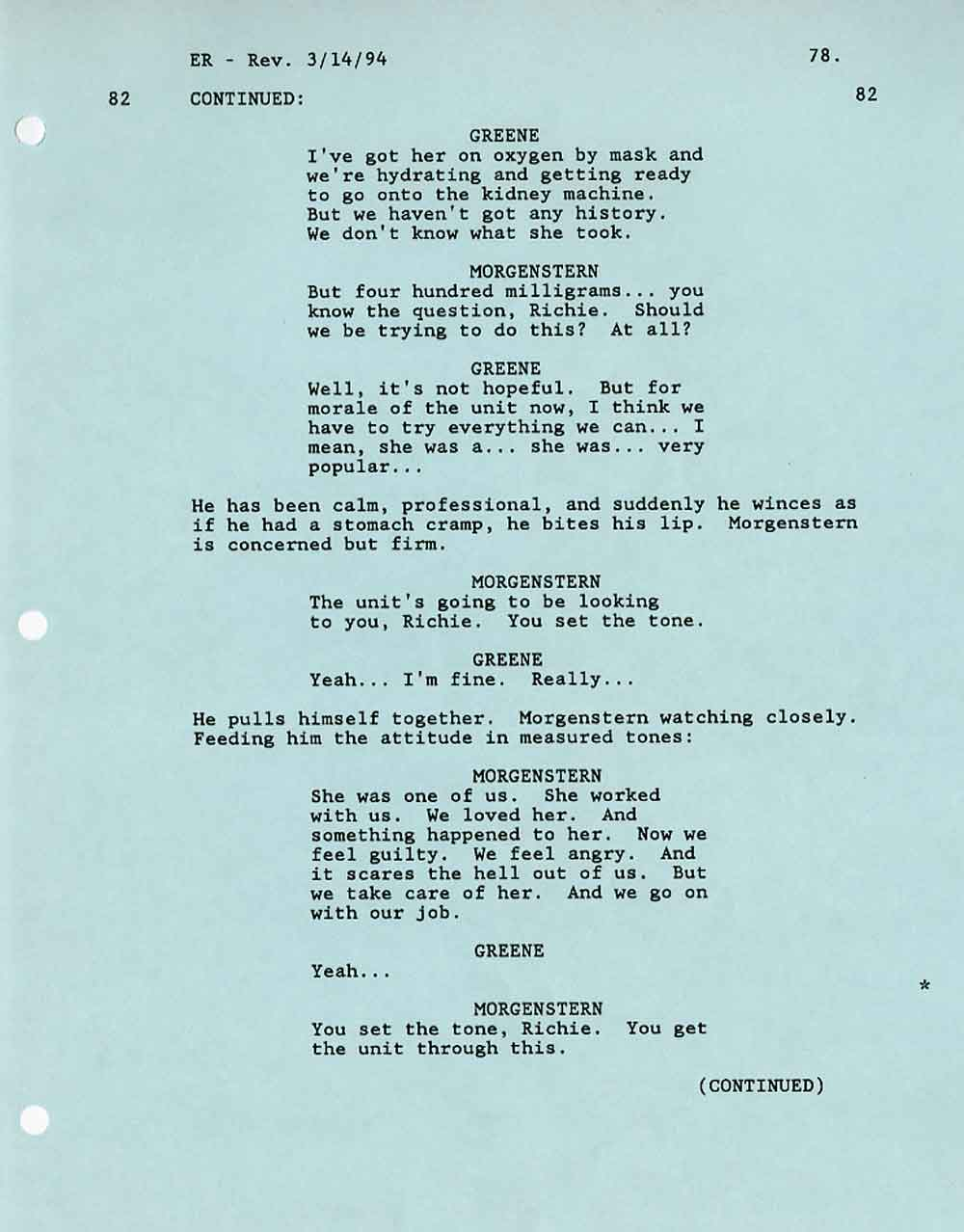ER Pilot Script written by Michael Crichton