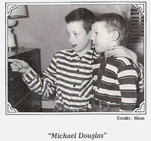 Picture of a young Michael Crichton and his brother Douglas Crichton