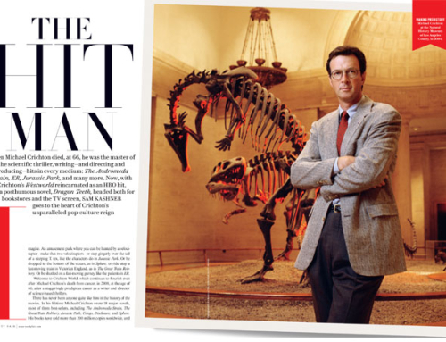 Michael Crichton featured in the latest issue of Vanity Fair